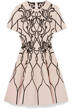 Alexander McQueen | Alexander McQueen - Jacquard-knit Mini Dress - Ivory | Clouty