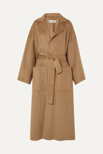 Loewe | Loewe - Oversized Belted Wool And Cashmere-blend Coat - Camel | Clouty