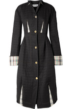 Loewe | Loewe - Quilted Cotton Coat - Black | Clouty