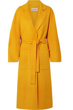 Loewe | Loewe - Oversized Belted Wool And Cashmere-blend Coat - Saffron | Clouty