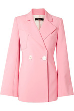 Ellery | Ellery - Calling Card Oversized Double-breasted Crepe Blazer - Pink | Clouty