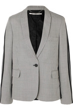 Stella McCartney | Stella McCartney - Houndstooth Wool-tweed And Silk-twill Blazer - Gray | Clouty