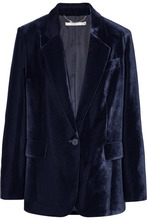 Stella McCartney | Stella McCartney - Oversized Velvet Blazer - Navy | Clouty
