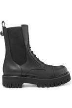 Dolce & Gabbana | Dolce & Gabbana - Leather Combat Boots - Black | Clouty