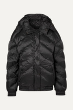 Perfect Moment   Perfect Moment - Oversized Hooded Quilted Shell Down Jacket - Black   Clouty