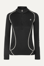 Perfect Moment | Perfect Moment - Printed Polartec Stretch-jersey Ski Top - Black | Clouty