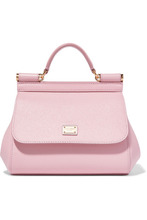 Dolce & Gabbana | Dolce & Gabbana - Sicily Micro Textured-leather Tote - Pink | Clouty