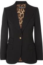 Dolce & Gabbana | Dolce & Gabbana - Wool-blend Blazer - Black | Clouty