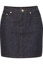 A.P.C. | A.P.C. Atelier de Production et de Creation - Standard Denim Mini Skirt - Dark denim | Clouty