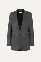 SAINT LAURENT | Saint Laurent - Herringbone Wool Blazer - Gray | Clouty