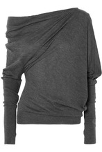 Tom Ford   TOM FORD - One-shoulder Cashmere And Silk-blend Sweater - Dark gray   Clouty
