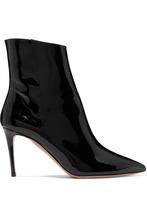 Aquazzura | Aquazzura - Alma Patent-leather Ankle Boots - Black | Clouty