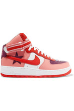 NIKE | Nike - + Riccardo Tisci Air Force 1 Leather High-top Sneakers - Purple | Clouty