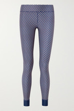 The Upside | The Upside - Kravat Printed Stretch Leggings - Navy | Clouty