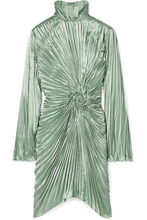 Sies Marjan | Sies Marjan - Ida Pleated Satin Mini Dress - Mint | Clouty
