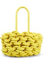 Alienina | Alienina - Woven Cotton Bucket Bag - Yellow | Clouty
