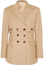 Altuzarra | Altuzarra - Double-breasted Pinstriped Wool-blend Blazer - Sand | Clouty