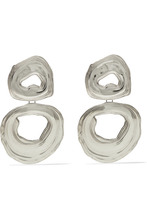 Leigh Miller | Leigh Miller - Double Whirlpool White Bronze Earrings - Silver | Clouty