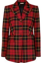 MICHAEL KORS | Michael Kors Collection - Tartan Wool-twill Blazer - Red | Clouty