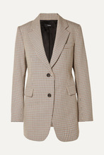 Theory | Theory - Houndstooth Cotton And Wool-blend Blazer - Gray | Clouty