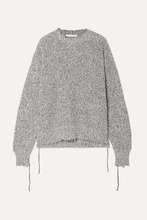 Helmut Lang | Helmut Lang - Distressed Knitted Sweater - Gray | Clouty