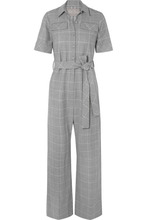 Lela Rose | Lela Rose - Checked Cady Jumpsuit - Gray | Clouty
