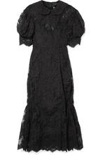 SIMONE ROCHA   Simone Rocha - Corded Lace And Tulle Midi Dress - Black   Clouty