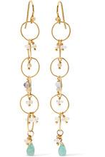 Chan Luu | Chan Luu - Gold-plated Amazonite Earrings - one size | Clouty