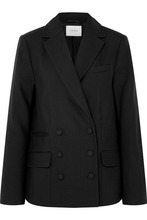 Frame | FRAME - Double-breasted Wool Blazer - Black | Clouty