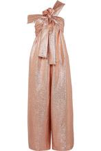 Ulla Johnson | Ulla Johnson - Jagger One-shoulder Silk-blend Lame Jumpsuit - Antique rose | Clouty