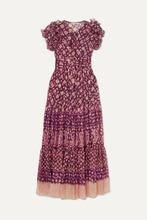 Ulla Johnson | Ulla Johnson - Umbra Ruffled Fil Coupe Silk-blend Maxi Dress - Plum | Clouty