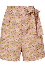 Lisa Marie Fernandez | Lisa Marie Fernandez - Floral-print Linen Shorts - Pink | Clouty