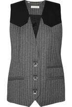 Altuzarra | Altuzarra - Walace Pinstriped Wool-blend Vest - Gray | Clouty