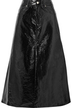 Beaufille | Beaufille - Latona Vinyl Midi Skirt - Black | Clouty