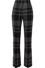 Markus Lupfer | Markus Lupfer - Kennedy Checked Wool Bootcut Pants - Gray | Clouty