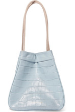 Rejina Pyo | REJINA PYO - Rita Croc-effect Leather Bucket Bag - Sky blue | Clouty
