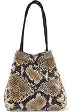 Rejina Pyo | REJINA PYO - Rita Snake-effect Leather Bucket Bag - Snake print | Clouty