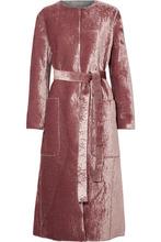Bottega Veneta | Bottega Veneta - Crushed-velvet Coat - Pink | Clouty
