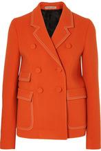 Bottega Veneta | Bottega Veneta - Double-breasted Wool-blend Blazer - Orange | Clouty