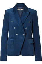 Stella McCartney | Stella McCartney - Robin Cotton-corduroy Blazer - Storm blue | Clouty