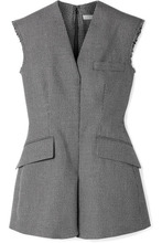 Stella McCartney | Stella McCartney - Frayed Wool And Cotton-blend Vest - Black | Clouty