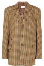 Maison Margiela | Maison Margiela - Oversized Checked Wool Blazer - Brown | Clouty