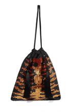 Attico | Attico - Tasseled Sequined Chiffon Clutch - Leopard print | Clouty