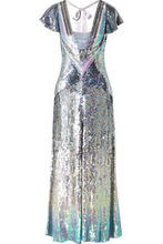 Temperley London   Temperley London - Ruth Cutout Sequined Tulle Gown - Silver   Clouty