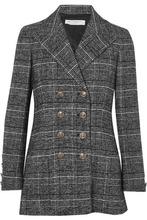 Philosophy di Lorenzo Serafini | Philosophy di Lorenzo Serafini - Double-breasted Checked Tweed Blazer - Gray | Clouty