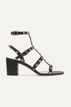 VALENTINO | Valentino - Valentino Garavani The Rockstud Leather Sandals - Black | Clouty