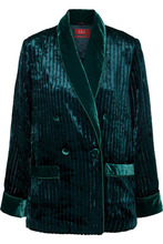 For Restless Sleepers | F.R.S For Restless Sleepers - Ate Quilted Velvet Shirt - Emerald | Clouty