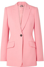 Alexander McQueen | Alexander McQueen - Wool-blend Blazer - Baby pink | Clouty