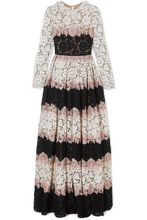 VALENTINO   Valentino - Tiered Corded Lace Gown - Pink   Clouty