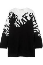 VALENTINO | Valentino - Intarsia Cashmere Sweater - Black | Clouty